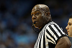28 December 2015: Referee Les Jones. The University of North Carolina Tar Heels hosted the UNC Greensboro Spartans at the Dean E. Smith Center in Chapel Hill, North Carolina in a 2015-16 NCAA Division I Men's Basketball game. UNC won the game 96-63.