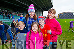 Ronan Teahan, Amy Fitzgerald with Muireann Maria and Sean Teahan, St. Mary's fans, enjoying the atmosphere at the St. Mary's Cahersiveen v Ratoath, Meath football intermediate club championship semi-final, at the Gaelic Grounds, Limerick on Sunday last.