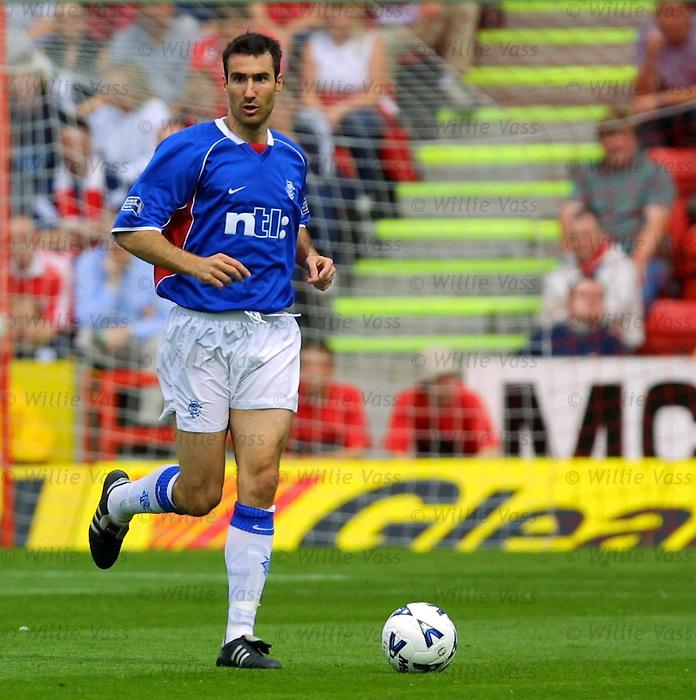 Tony Vidmar, Rangers season 2001/02