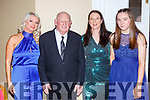 Eddie  Hutchinson Dingle who was presented a life time acheivement award at the Kerry Sports awards show in the Gleneagle Hotel on Friday night l-r: Kathleen Fitzgerald, Eddie  Hutchinson, Ann MArie Hutchinson and Emily Nic Gearailt