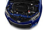 Car Stock 2016 Toyota Corolla S Premium 4 Door Sedan Engine  high angle detail view