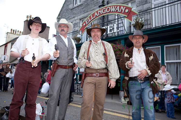 Creetown Country Music Festival, cowboys competing in the fastest draw competition
