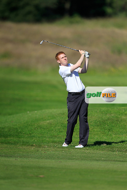 Shane McGagh (Claremorris) on the 7th during Round 2 of the Ulster Boys' Amateur Open Championship in Clandeboye Golf Club on Wednesday 9th July 2014.<br /> Picture:  Thos Caffrey / www.golffile.ie