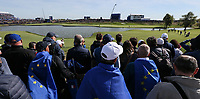 View of the 15th  during Saturday's Fourballs, at the Ryder Cup, Le Golf National, Île-de-France, France. 29/09/2018.<br /> Picture David Lloyd / Golffile.ie<br /> <br /> All photo usage must carry mandatory copyright credit (© Golffile | David Lloyd)