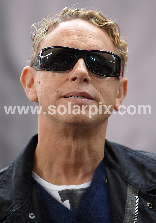 **ALL ROUND PICTURES FROM SOLARPIX.COM**.**SYNDICATION RIGHTS FOR UK AND SPAIN ONLY**.The pop group Depeche Mode at a photocall for their world tour Tour of the Universe? at the Olympiastadion in Berlin in Germany..This pic.Martin Gore..JOB REF:7538-CPR/Michael Gottschalk DATE:06_10_08.**MUST CREDIT SOLARPIX.COM OR DOUBLE FEE WILL BE CHARGED* *UNDER NO CIRCUMSTANCES IS THIS IMAGE TO BE REPRODUCED FOR ANY ONLINE EDITION WITHOUT PRIOR PERMISSION*