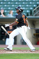 Rochester Red Wings Jacque Jones (11) during a game vs. the Charlotte Knights at Frontier Field in Rochester, New York;  June 17, 2010.   Charlotte defeated Rochester by the score of 9-2.  Photo By Mike Janes/Four Seam Images