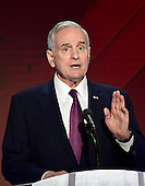 Governor Mark Dayton (Democrat of Minnesota) makes remarks during the fourth session of the 2016 Democratic National Convention at the Wells Fargo Center in Philadelphia, Pennsylvania on Thursday, July 28, 2016.<br /> Credit: Ron Sachs / CNP<br /> (RESTRICTION: NO New York or New Jersey Newspapers or newspapers within a 75 mile radius of New York City)