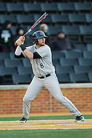 Christian Venditti (8) of the Georgetown Hoyas at bat against the Wake Forest Demon Deacons at Wake Forest Baseball Park on February 16, 2014 in Winston-Salem, North Carolina.  The Demon Deacons defeated the Hoyas 3-2.  (Brian Westerholt/Four Seam Images)