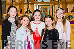 Laura O'Connor Listowel, Mia Keane Castlegregory, Tara O'Regan Duagh, katriona roberts Castkegregory and Aoibh O'connell Killorglin who competed in the Killarney Rotary club Young Musician of the Year in the Friary Killarney on Saturday night