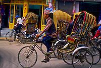 Bicycle rickshaws, Thamel District, Kathmandu, Nepal