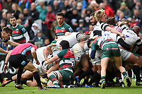 Harry Thacker of Bristol Bears scores a late try in the match. Gallagher Premiership match, between Leicester Tigers and Bristol Bears on April 27, 2019 at Welford Road in Leicester, England. Photo by: Patrick Khachfe / JMP