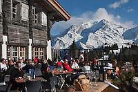 Europe/France/Rhône-Alpes/74/Haute-Savoie/Megève: Terrasse du Chalet d'altitude, restaurant: L'Idéal  1850 au sommet du Mont d'Arbois