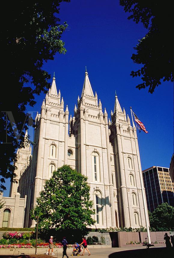 Mormon Temple at Temple Square,  Salt Lake City, Utah