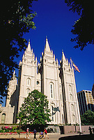 Mormon Temple at Temple Square,  Salt Lake City, Utah