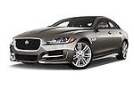 Stock pictures of low aggressive front three quarter view of 2017 Jaguar XE 4dr-Sdn-20d-R-Sport-RWD 4 Door Sedan Low Aggressive