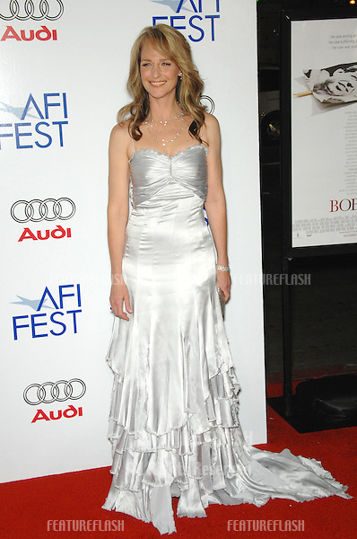 "HELEN HUNT at the AFI Film Festival's opening night gala & US premiere of her new movie ""Bobby"" at the Grauman's Chinese Theatre, Hollywood..November 1, 2006  Los Angeles, CA.Picture: Paul Smith / Featureflash"