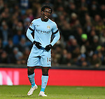Dejected Wilfried Bony of Manchester City after missing a chance to score - Barclays Premier League - Manchester City vs Newcastle Utd - Etihad Stadium - Manchester - England - 21st February 2015 - Picture Simon Bellis/Sportimage