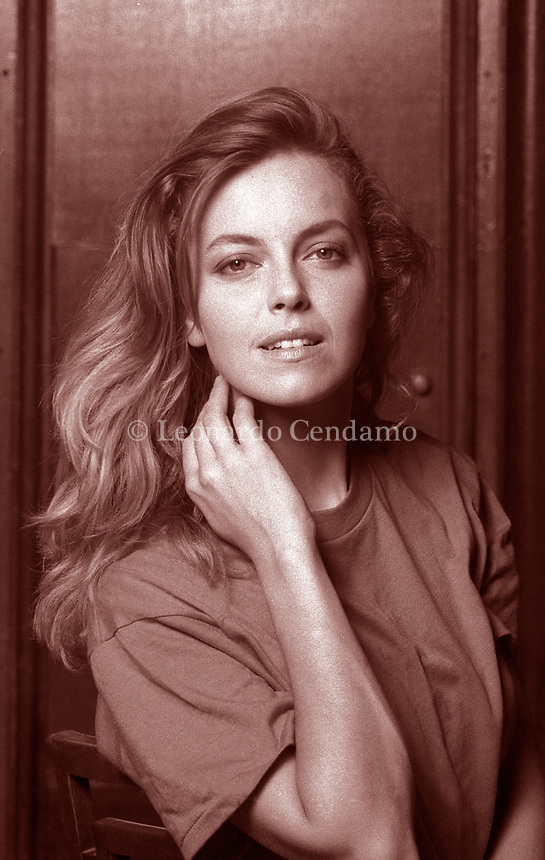 Greta Scacchi; è una attrice italiana; naturalizzata australiana. Film; cultura italiana. photo fatte al lido di Venezia; Festival Internazionale. 11 settembre 1993. Photo by Leonardo Cendamo/Gettyimages