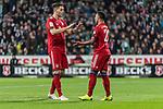 01.12.2018, Weserstadion, Bremen, GER, 1.FBL, Werder Bremen vs FC Bayern Muenchen<br /> <br /> DFL REGULATIONS PROHIBIT ANY USE OF PHOTOGRAPHS AS IMAGE SEQUENCES AND/OR QUASI-VIDEO.<br /> <br /> im Bild / picture shows<br /> Jubel zum 1:2, Serge Gnabry (FC Bayern Muenchen #22) bejubelt seinen Treffer zum 1:2 mit Niklas S&uuml;le / Suele (FC Bayern Muenchen #04), <br /> <br /> Foto &copy; nordphoto / Ewert