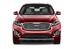 Car photography straight front view of a 2016 KIA Sorento SXT 5 Door SUV