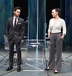 Dry Powder<br /> by Sarah Burgess<br /> Directed by Anna Ledwich at the <br /> Hampstead Theatre, London, Great Britain <br /> 31st January 2018 <br /> Press photocall <br /> Tom Riley as Seth <br /> Hayley Atwell as Jenny<br /> <br /> <br /> <br /> Designed by Andrew D Edwards <br /> Lighting by Elliot Griggs<br /> Sound by Max Pappenheim <br /> Video by Ian William Galloway<br /> <br /> Photograph by Elliott Franks