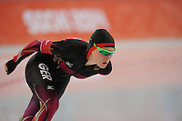 OLYMPICS: SOCHI: Adler Arena, 09-02-2014, 3000 m Ladies, Stephanie Beckert (GER), ©foto Martin de Jong