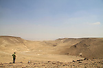 Israel, Negev, a view of Nahal Kinah from Hurvat Uza, site of biblical Kinah