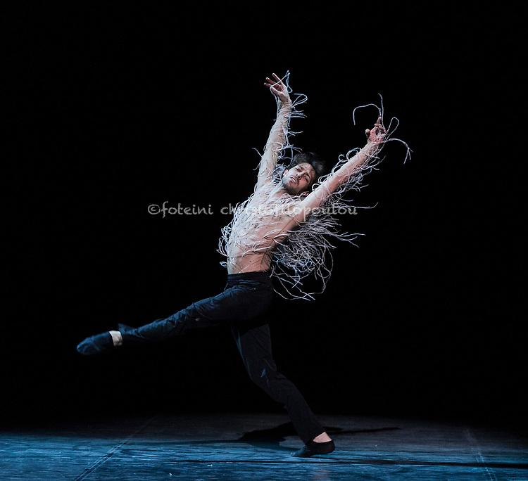 London, UK. 22.11.2017. 'Men in Motion' Ivan Putrov's celebration of the male dancer returns to the London Coliseum, 22-23 Nov 2017.  Photo shows: Mathieu Ganio in 'Clair de Lune' by Alastair Marriott. Photo - © Foteini Christofilopoulou.