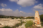 Israel, Jerusalem Mountains, the memorial to Nadav Israeli on Mount Tzuba