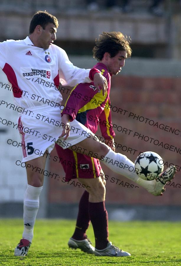 SPORT FUDBAL CRVENA ZVEZDA RADNICKI OBRENOVAC Milan Dudic 18.03.2004. foto: Pedja Milosavljevic<br />
