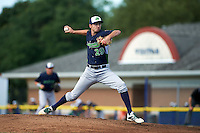Vermont Lake Monsters pitcher Heath Bowers (29) delivers a pitch during a game against the Batavia Muckdogs August 9, 2015 at Dwyer Stadium in Batavia, New York.  Vermont defeated Batavia 11-5.  (Mike Janes/Four Seam Images)