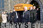FINAL JOURNEY: Kit Ahern's remains are shouldered from St John's Church in Ballybunion on Saturday morning.   Copyright Kerry's Eye 2008