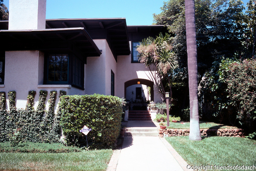 Irving Gill: Mary Cossitt House, 1906. 3526 7th Ave., San Diego.  Photo 2001.