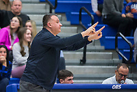 Greg White, Bentonville West head coach, reacts vs Rogers Tuesday, Jan. 14, 2020, at King Arena in Rogers.<br /> Go to http://bit.ly/2FVKUXz to see more photos.<br /> (NWA Democrat-Gazette/Ben Goff)