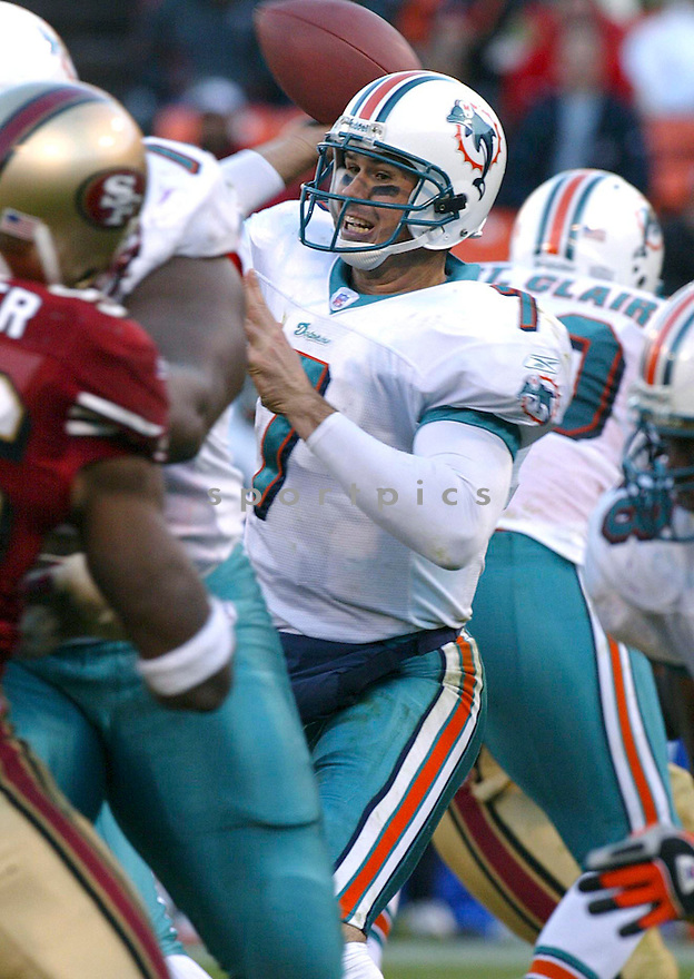 AJ Feeley during the Miami Dolphins v. San Francisco 49ers game on November 28, 2004...Miami wins 24-17..Rob Holt / SportPics