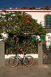 Bicycle parked in Puerto Mogan, Gran Canaria, Canary Islands, Spain