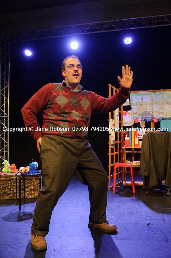 Edinburgh, UK. 16.08.2015. Tasty Monster Productions present FERDINAND, at Greenside Nicolson Square, written by Heather Bagnall, and starring Luke Tudball, as part of the Edinburgh Festival Fringe. Pictures taken during technical rehearsals. Photograph © Jane Hobson..