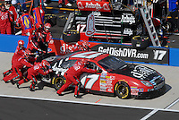 Apr 28, 2007; Talladega, AL, USA; Nascar Busch Series driver Danny O'Quinn Jr (17) pits during the Aarons 312 at Talladega Superspeedway. Mandatory Credit: Mark J. Rebilas