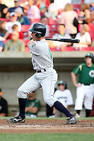 August 15 2008:  Andrew Romine (12) of the Cedar Rapids Kernels, Class-A affiliate of the Los Angeles Angels of Anaheim, during a game at Philip B. Elfstrom Stadium in Geneva, IL.  Photo by:  Mike Janes/Four Seam Images