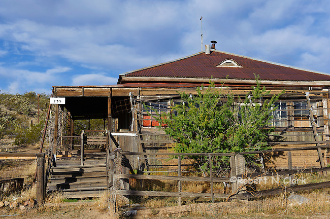 Some original miner's cabins in Serachlight, Nevada