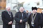 Rotary President, Paddy Prendergast, Fr. Martin Kenny and Mayor Paul Bell at the Launch of the Rotary Annual Memory Tree....(Photo credit should read Jenny Matthews www.newsfile.ie)....This Picture has been sent you under the conditions enclosed by:.Newsfile Ltd..The Studio,.Millmount Abbey,.Drogheda,.Co Meath..Ireland..Tel: +353(0)41-9871240.Fax: +353(0)41-9871260.GSM: +353(0)86-2500958.email: pictures@newsfile.ie.www.newsfile.ie.