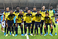 PEREIRA, COLOMBIA - JANUARY 18: Members of the Ecuador team pose for a picture before his soccer game against Chile during their CONMEBOL Preolimpico soccer game at the Hernan Ramirez Villegas Stadium on January 18, 2020 in Pereira, Colombia. (Photo by Daniel Munoz/VIEW press/Getty Images)