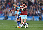 02/05/16 Sky Bet League Championship  Burnley v QPR<br /> George Boyd collides with Karl Henry