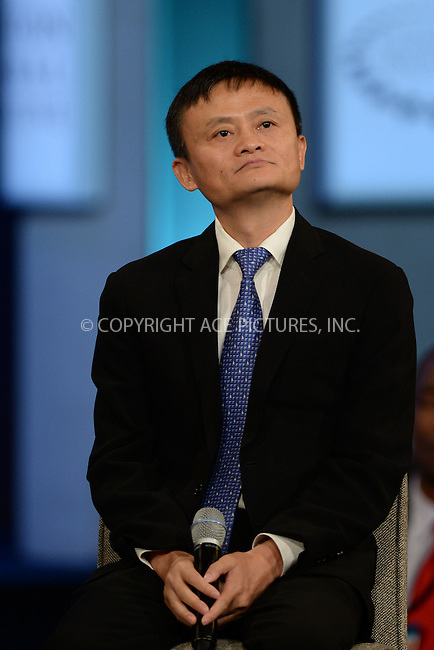 WWW.ACEPIXS.COM<br /> September 29, 2015 New York City<br /> <br /> Jack Ma attending the CGI Annual Meeting on September 29, 2015 in New York City.<br /> <br /> Credit: Kristin Callahan/ACE Pictures<br /> <br /> Tel: (646) 769 0430<br /> e-mail: info@acepixs.com<br /> web: http://www.acepixs.com
