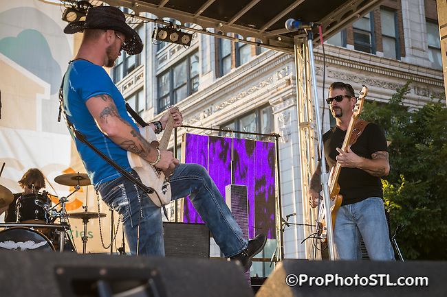 Rise Up Festival organized in downtown St. Louis on Aug 21, 2015.