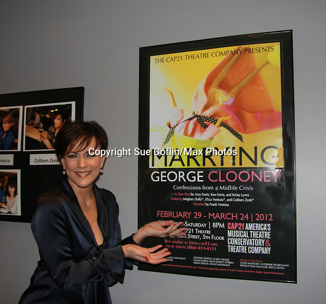 """As the World Turns' Colleen Zenk stars in """"Marrying George Clooney: Confessions from a Midlife Crisis"""" on February 29, 2012 at Cap 21 America's Musical Thetre Conservatory & Theatre Company, New York City, New York.  (Photo by Sue Coflin/Max Photos)"""