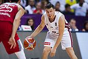 7th September 2017, Fenerbahce Arena, Istanbul, Turkey; FIBA Eurobasket Group D; Latvia versus Turkey; Shooting Guard Dairis Bertans #9 of Latvia in action