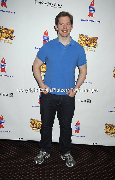Rory O'Malley attends the 25th Annual Broadway Flea Market and Grand Auction benefiting Broadway Cares/ Equity Fights Aids on September 25, 2011 at Shubert Alley.