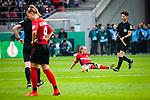 01.05.2019, RheinEnergie Stadion , Köln, GER, DFB Pokalfinale der Frauen, VfL Wolfsburg vs SC Freiburg, DFB REGULATIONS PROHIBIT ANY USE OF PHOTOGRAPHS AS IMAGE SEQUENCES AND/OR QUASI-VIDEO<br /> <br /> im Bild | picture shows:<br /> Enttäuschung bei den Frauen des SC Freiburg nach der knappen Niederlage im DFB Pokalfinale der Frauen, <br /> <br /> Foto © nordphoto / Rauch