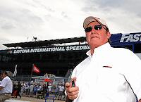 Jul. 4, 2008; Daytona Beach, FL, USA; NASCAR Sprint Cup Series team owner Richard Childress during qualifying for the Coke Zero 400 at Daytona International Speedway. Mandatory Credit: Mark J. Rebilas-